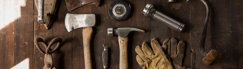 Werkzeuge eines Handwerkers