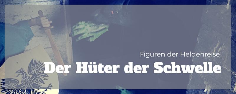 Figuren der Heldenreise: Der Hüter der Schwelle. Bild: Der Held steht vor einer riesenhaften Ratte.