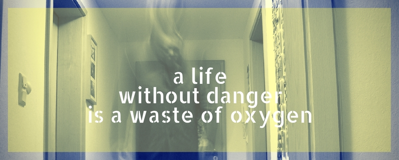 Life without danger is a waste of oxygen
