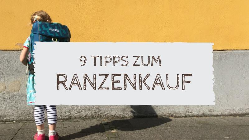 Text: 9 Tipps zum Ranzenkauf Bild: Kind mit Schulranzen