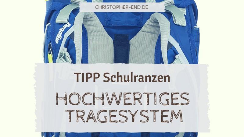 Tipp zum Schulranzen: Hochwertiges Tragesystem Bild: Tragesystem eines Schulranzen
