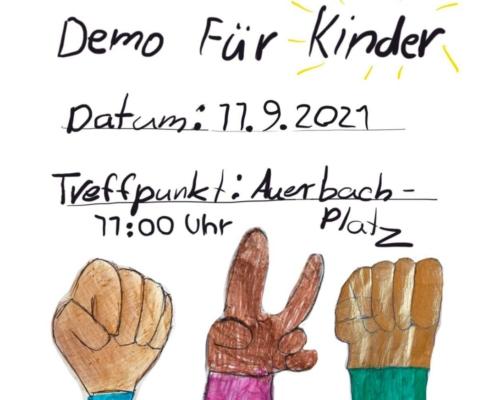 Black Lives Matter Kinder-Demo